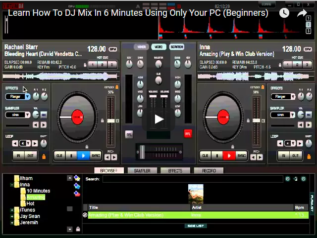 Learn DJ Mixing In 6 Minutes Using Only Your PC (Beginners